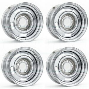 15x6 Chrome Wheels Vision 57 Rally 5x4 75 12 Set Of 4