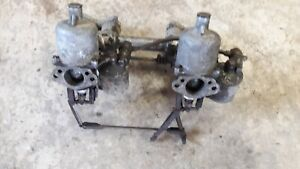 Triumph Tr2 Original Carburetors And Intake Manifold