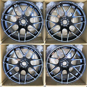Avant Garde Ruger Mesh 19x8 5 11 Black Wheels Rims Porsche 911 996 997 Turbo Set