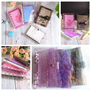 A5 a6 a7 Meteor Shower Pvc Cover Loose Leaf Ring Binder File Folder With Button