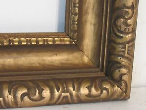 Antique Hand Carved Gilded Wood Frame For Painting 18 X 12 Inch
