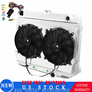 3row Radiator shroud Fan Thermostat For 67 70 Ford Mustang 68 69 Mercury Cougar
