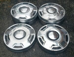 Set Of 4 Oem 1987 96 Ford 3 4 Ton Pickup Truck Cargo Van 12 Dog Dish Hubcaps