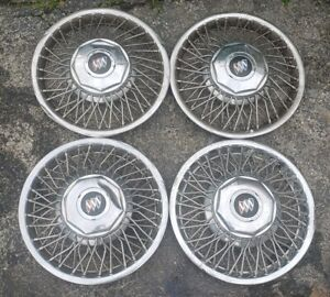 Set Of 4 Oem 1985 88 Fwd Buick Electra Lesabre 14 Wire Spoke Hubcap Wheel Cover