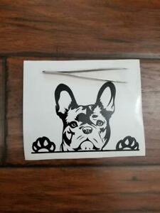 Paws Up French Bulldog Frenchie Bully Dog Decal Any Size Any Colors Car Laptop