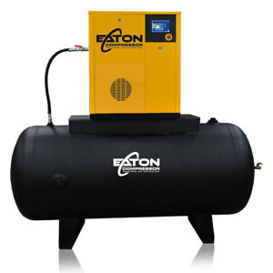 20hp Rotary Screw Air Compressor With 240 Gallon Tank 3 Phase 460v Fixed Speed