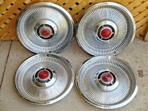 Set Of 4 Vintage 1968 Chrysler Newport New Yorker 14 Hubcap Wheel Covers
