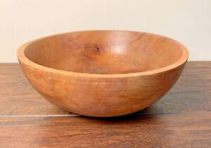 Vintage Wood Bowl Knotty Rustic 8 5 By 3 2 Display Farmhouse Country