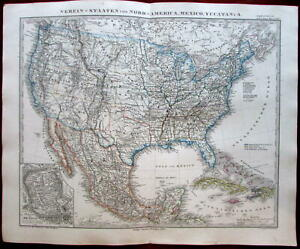 Territorial United States Vast New Mexico Territory 1862 Variant Stieler Map