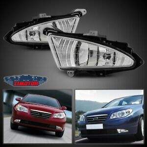 Fit Hyundai Elantra 07 10 Clear Lens Pair Fog Light Lamp wiring switch Kit Dot
