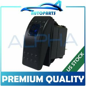 Waterproof On off Rocker Switch 12v 3p Led Rv Camp Trailer Motor Home Coach Blue