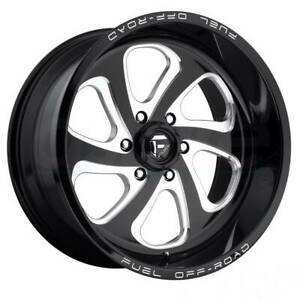 22x10 Black Milled Wheels Fuel Flow D587 8x170 18 Set Of 4