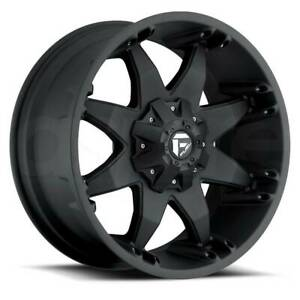 22x14 Matte Black Wheels Fuel Octane D509 8x170 76 Set Of 4