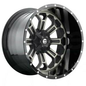 22x12 Black Machined Wheels Fuel Crush D268 6x135 6x5 5 44 Set Of 4