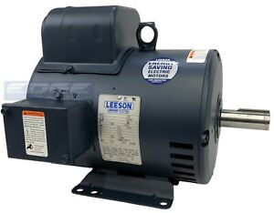 208v 1 phase Leeson Compressor Duty Electric Motor 5hp 184t Frame 1750 Rpm