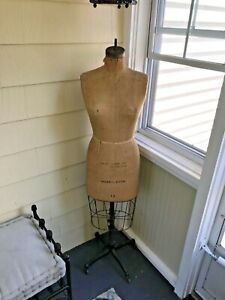Vintage Wolfe Mannequin Dress Form1950s Hand Made Size 12 With Cage