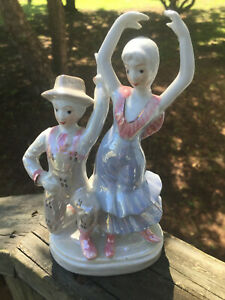 Porcelain Ballerina And Balerino Figure