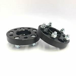 2pc 20mm Black Hubcentric Wheel Spacers 5x120 64 1 Mm Cb 14x1 5 Thread