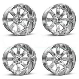 20x12 Chrome Wheels Truxx At154 8x180 44 set Of 4