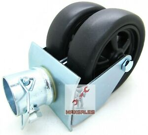 Heavy Duty 6 Dual Trailer Jack Wheel Caster Fits Any Jack Soft Ground Roll