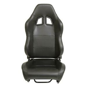 Summit Racing Sum G1139 Sport Seat Reclining Black Simulated Leather Each