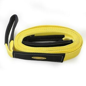 Smittybilt Cc220 in Stock 2 X 20 Recovery Tow Strap W Cover Yellow