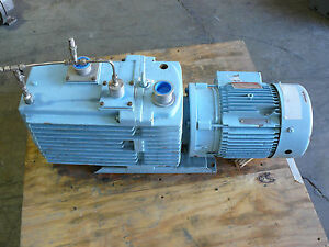 Leybold D60ac Trivac Rotary Vane Vacuum Pump With Ge 5k184fx3631a Motor