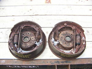 1963 Chrysler Imperial Rear Brake Drum Backing Plates Oem Lebaron Crown Coupe