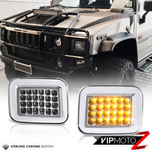 2003 2009 Hummer H2 Suv Sut amber Led Smd Turn Signal Corner Lights Lamps Pair