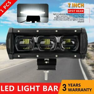 7inch Led Light Bar 8d Spot Offroad Work Driving Fog Lamp Suv 4wd Truck 12v 24v