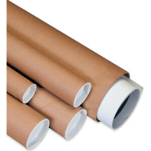Packaging Supplies Fibreboard 0 06 Thick Spiral Wound Mailing Tubes With Caps