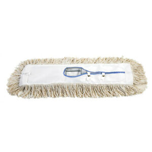 Industrial Supplies White Dust Mop Replacement Heads Economy Case Of 12