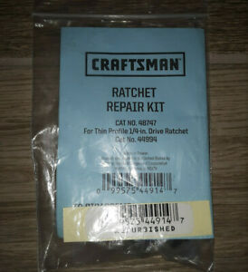 Craftsman Ratchet Repair Kit 48747 For Thin Profile Quick Release Usa 44994