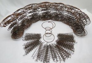 Lot Of 70 Rusty Hour Glass Bed Springs 140 Curly Springs Wreaths Country Crafts