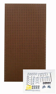 Triton Pegboard Wall Organizer Rackk Storage Heavy Duty Brown Hooks Shop Room