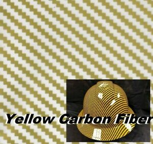 Yellow Carbon Fiber Hydrographic Film Water Transfer Printing 0 5x10m Wholesale