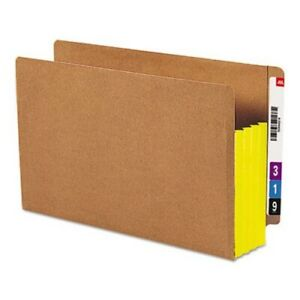 Smead 3 1 2 Expansion File Straight Tab Legal Yellow 10 Per Box smd74688