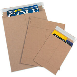 Packaging Supplies 028 Chipboard Kraft Self seal Flat Mailers Made In Usa