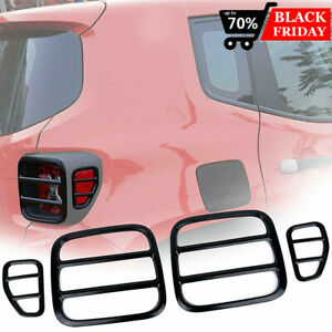 2x Aluminum Alloy Tail Light Covers Rear Taillight Guard For Jeep Renegade 15