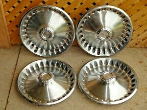 Lot Of 4 Vtg 1973 1974 Plymouth Motor Division Oem 14 Inch Hubcap Wheel Covers