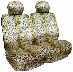 Allison 67 1815 Safari Leopard Low Bucket Seat Cover