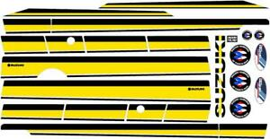 Suzuki Samurai Decals Lines Stickers Calcomanias Graficas Black And Yellow