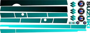 Suzuki Samurai Decals Lines Stickers Calcomanias Graficas Black And Turquoise