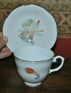 York Bone China Tea Cup Saucer Made In England Vintage Floral
