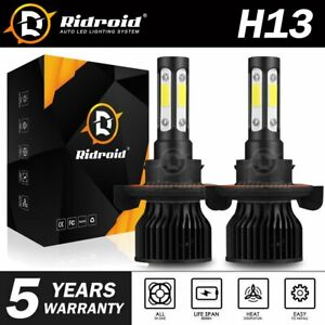 4 Sides H13 9008 2400w 360000lm Cree Led Headlight Bulb Kit Hi lo Beam 6000k