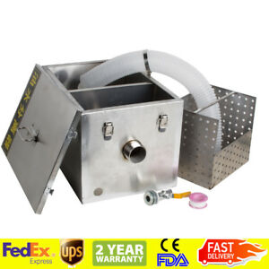 Grease Trap Interceptor Set For Restaurant Kitchen Wastewater Removable Usps