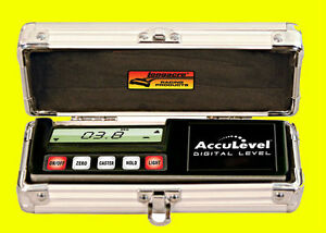 Longacre Digital Level Acculevel Back Light 0 To 90 Deg Range Case Included