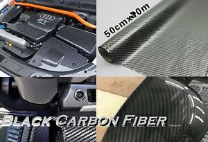 0 5mx 20m Black Glossy Carbon Fiber Water Transfer Print Film Hydrodipping Dip