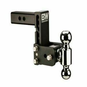 Ts20037b B w 5 Drop Tow Stow Adjustable Ball Mount For 2 5 Receiver Hitch