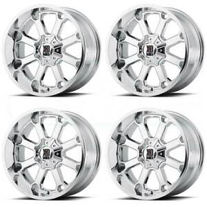 20x9 Chrome Wheels Xd Xd825 Buck 25 8x6 5 8x165 1 0 set Of 4